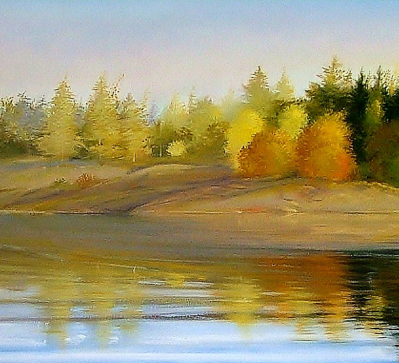 """Up North"" Oil on Canvas, 29"" x 96"" 2011"