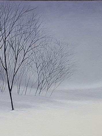 """""""Grey Sky"""" Oil on Canvas, 22"""" x 72"""" 2011"""