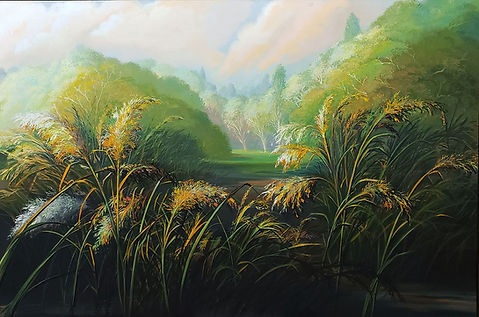 """The Swamp"" Oil on Canvas, 48"" x 72"","