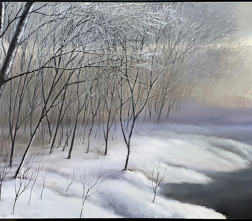 """""""Stillness"""" • Oil on Canvas • 36"""" x 96"""" • 2009"""