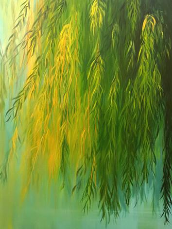 """Rain Series # 1"" Oil on Canvas, 50"" x 50"" 2016"