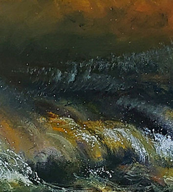 """Tempete de Mer"" Oil on Canvas, 16 x 96"" 2006"