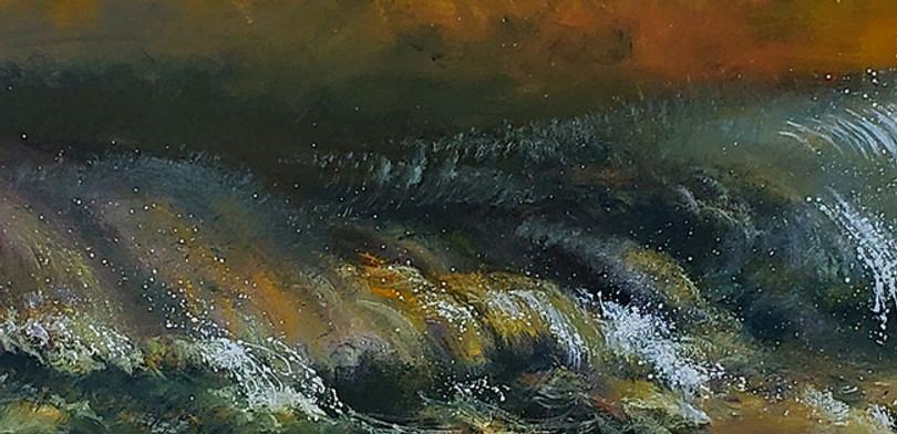 """Tempete de Mer"" Oil on Canvas, 16 x 96"" 2006"