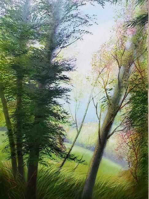 """""""Erickson"""" Oil on Canvas, 38"""" x 22"""" 2018"""