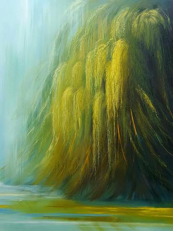 """Rain Series # 2"" Oil on Canvas, 50"" x 50"" 2016"
