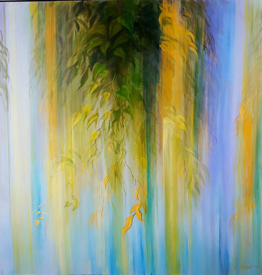 """Rain Series # 3"" Oil on Canvas, 50"" x 50"" 2015"