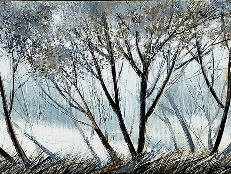 """Frieze"" Oil on Canvas, 24"" x 96"" 2013"