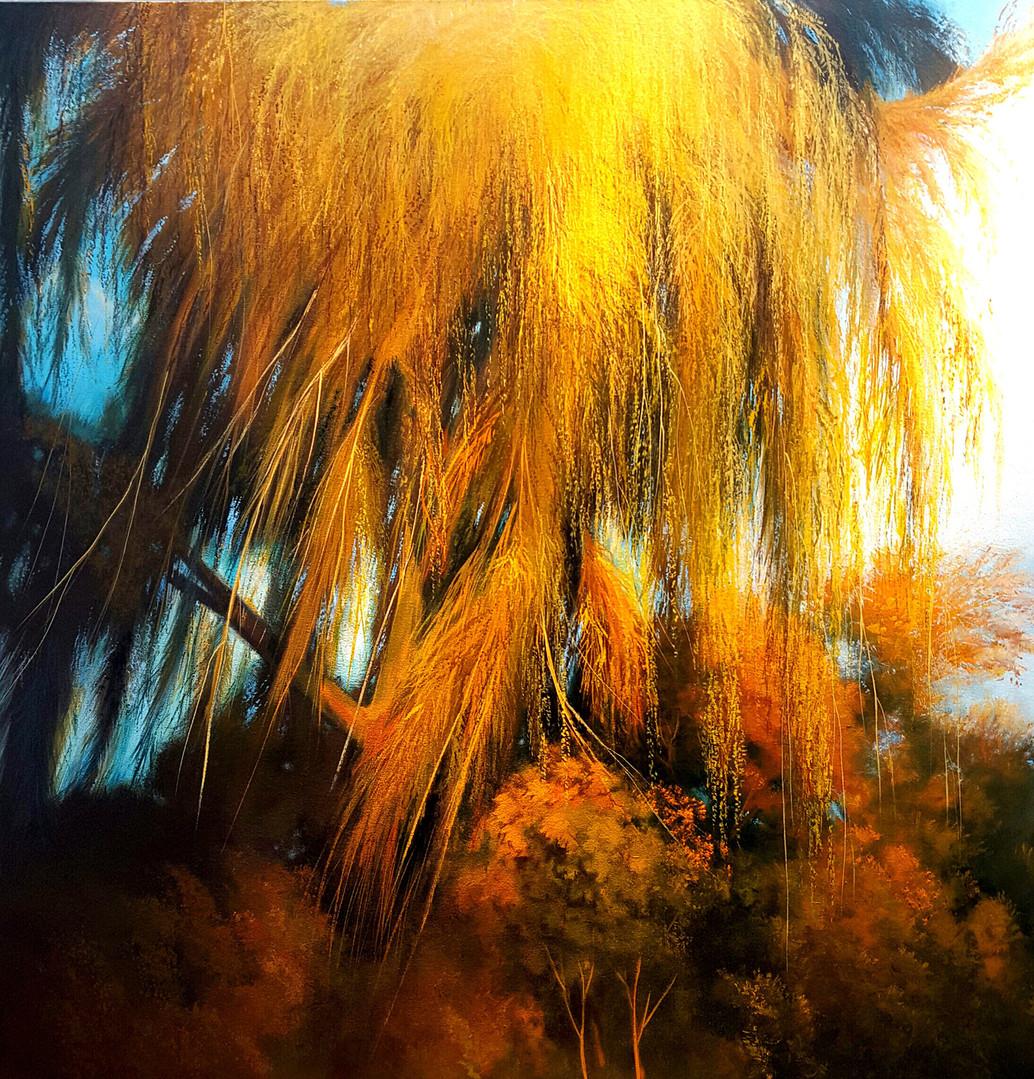 """Rain Series # 4"" Oil on Canvas, 50"" x 50"" 2014"