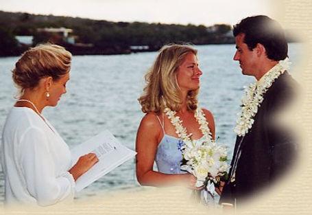 Rev Heidi Alfrey marring the happy couple