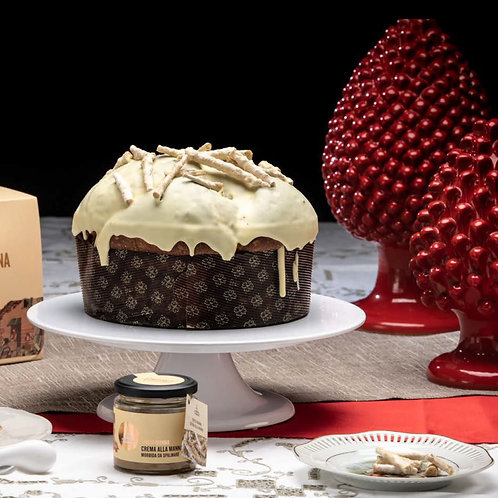 Panettone with Gianduja Chocolate Drops and Manna (1kg)