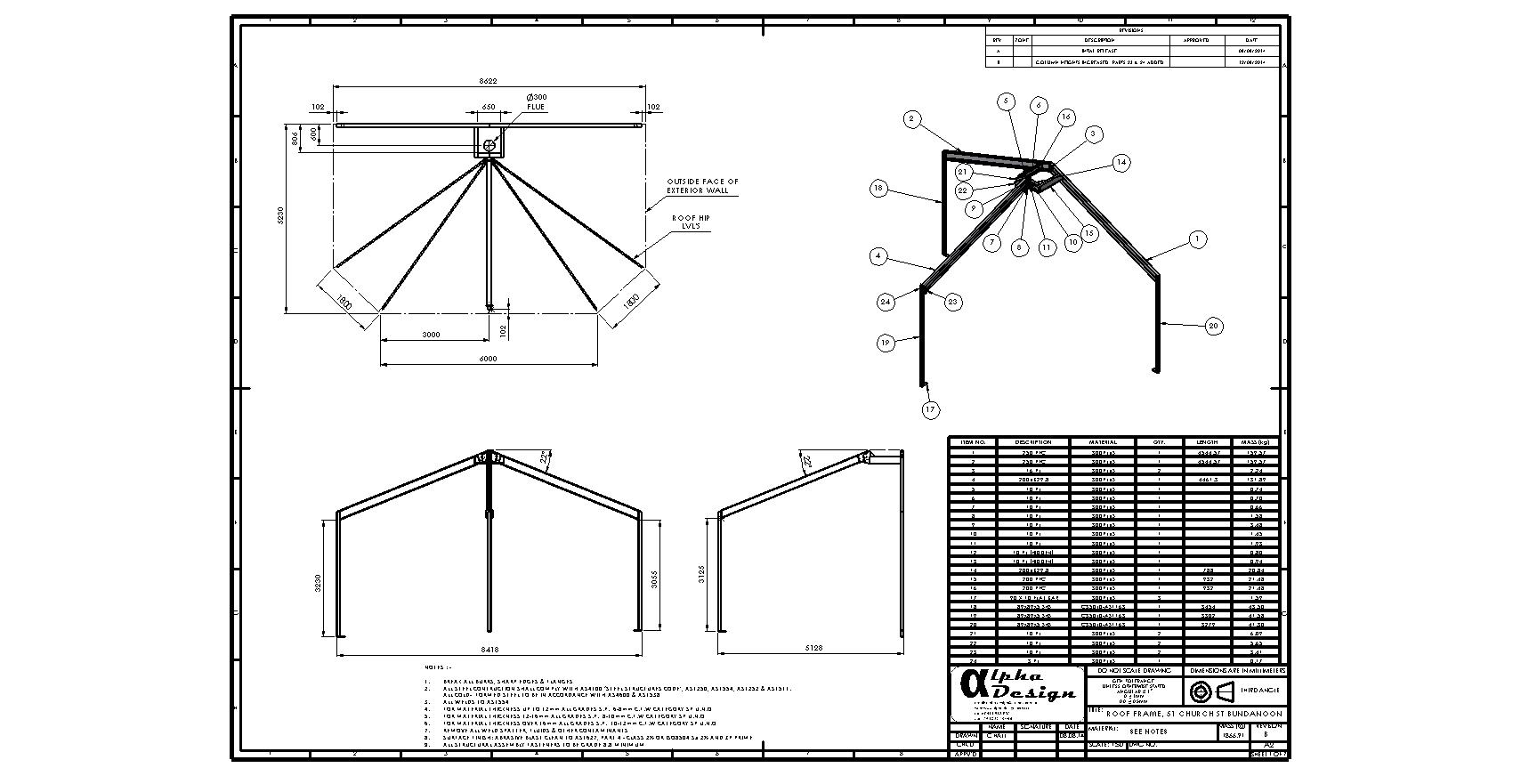Fabricated Steel Roof Frame Assembly
