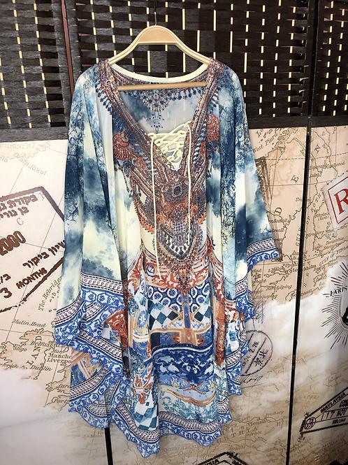 Maravilloso Kimono Tonos Azules