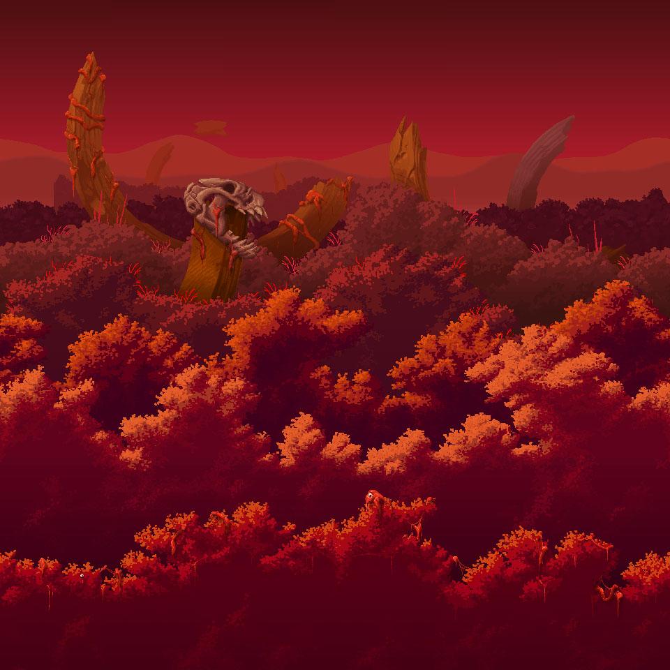 Terraria Otherworld Crimson Forest