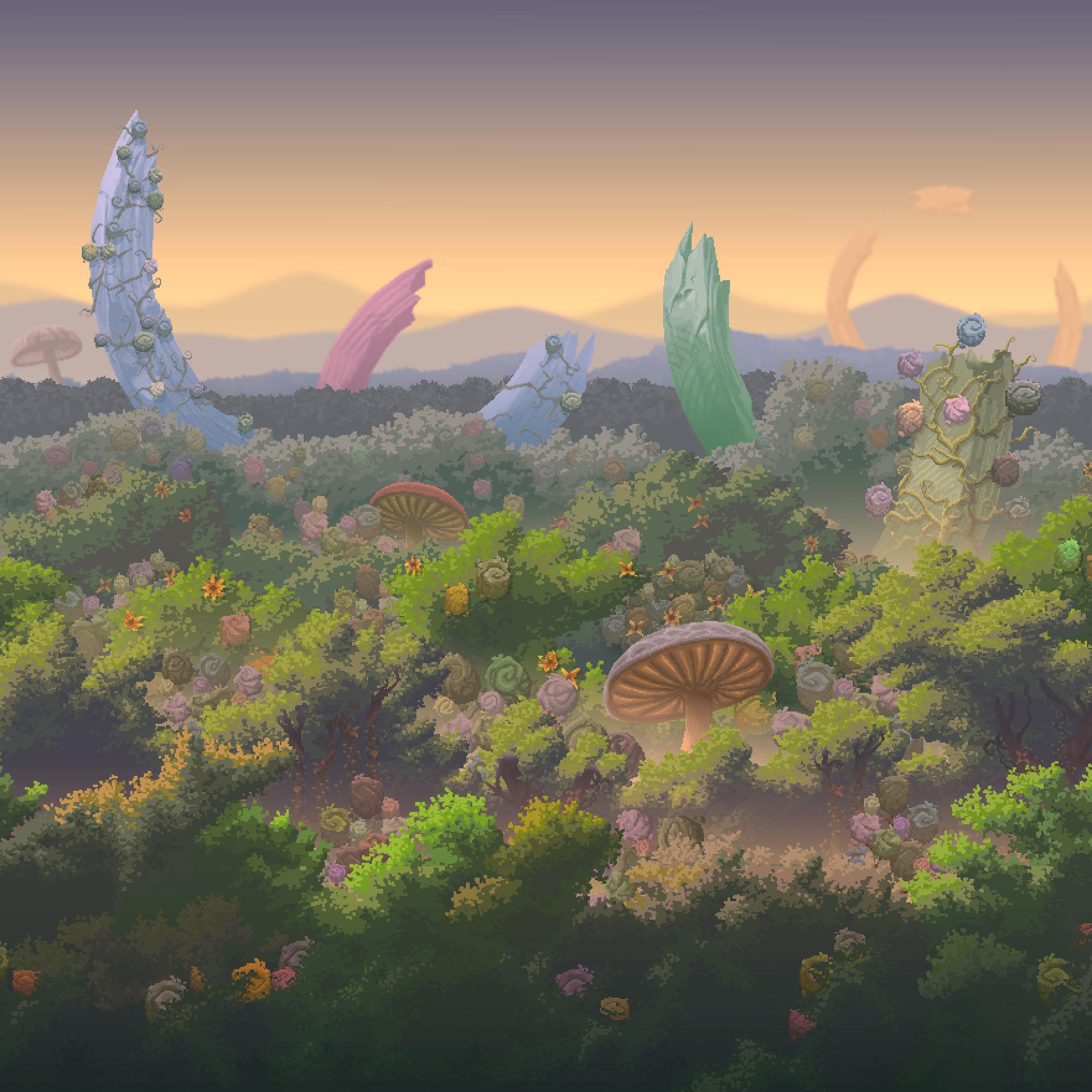 Terraria Otherworld Hallow Forest