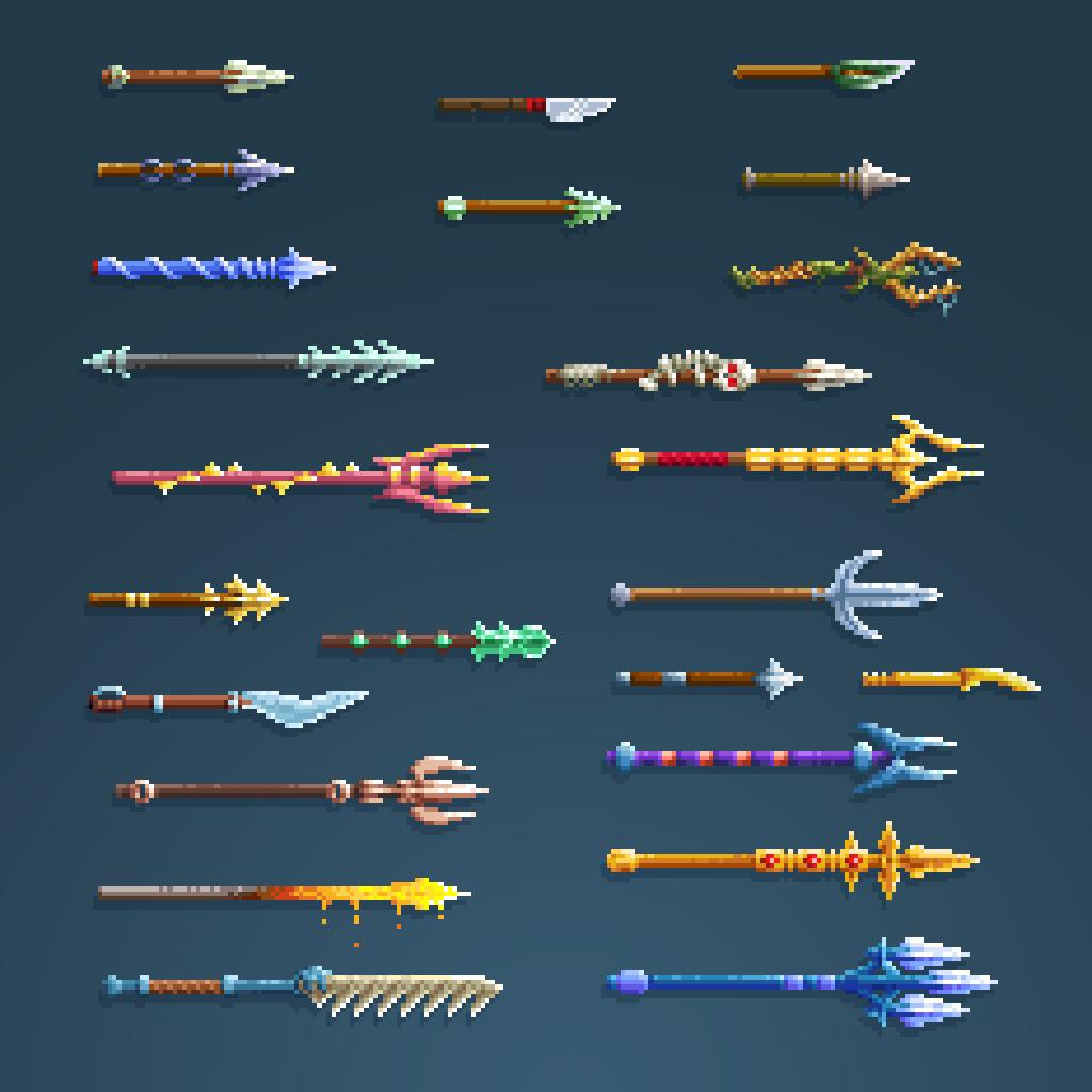 Terraria Otherworld spear sprites
