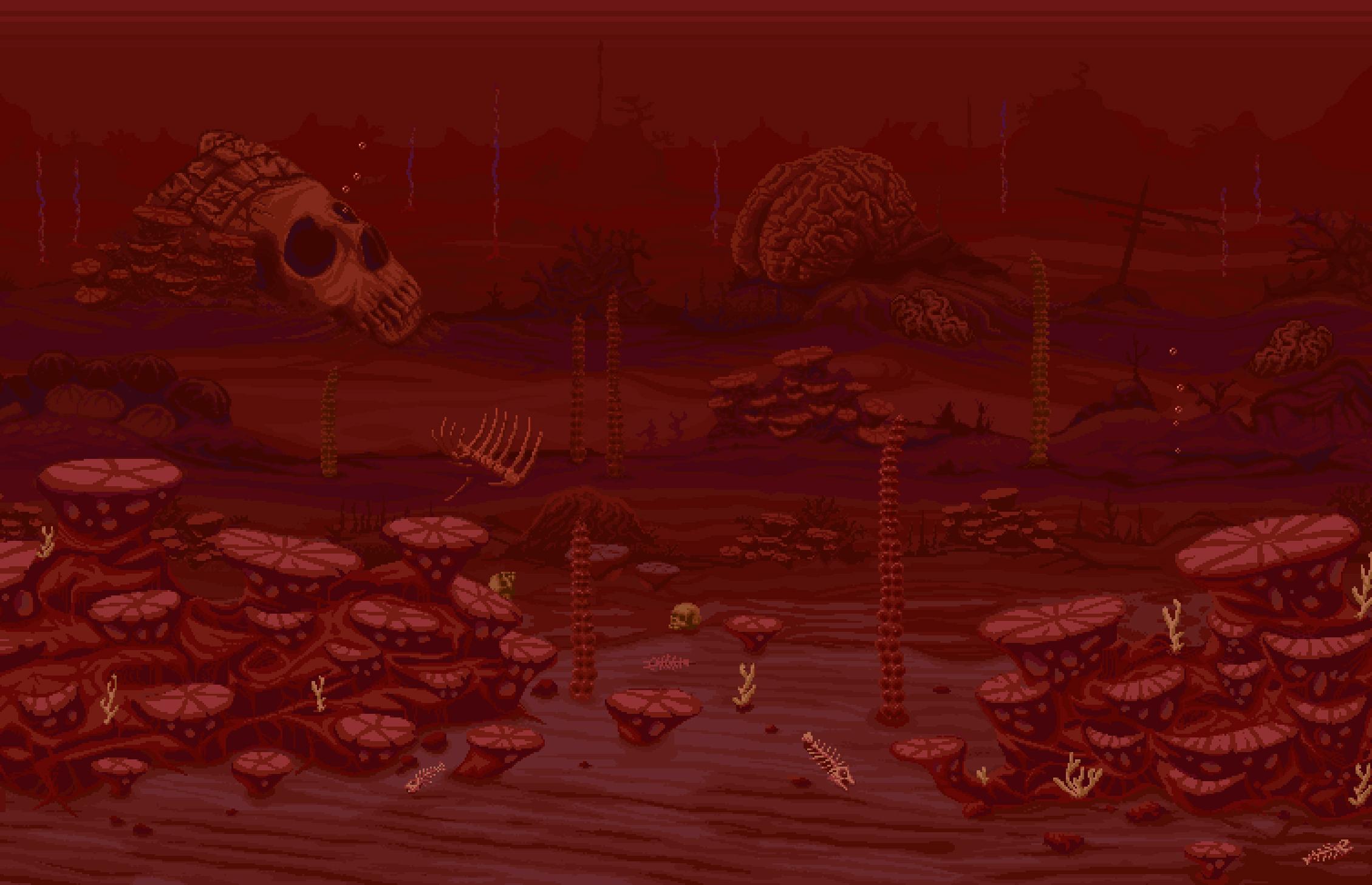 Terraria Otherworld Crimson Ocean
