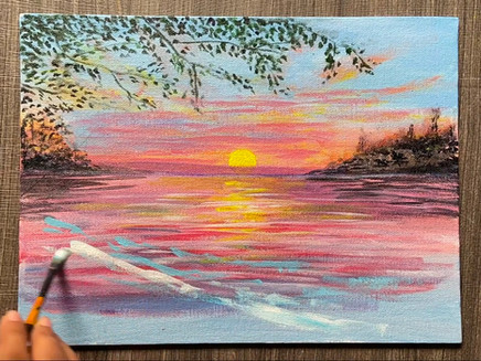 Easy Seascape Acrylic Painting for Beginners and Intermediate