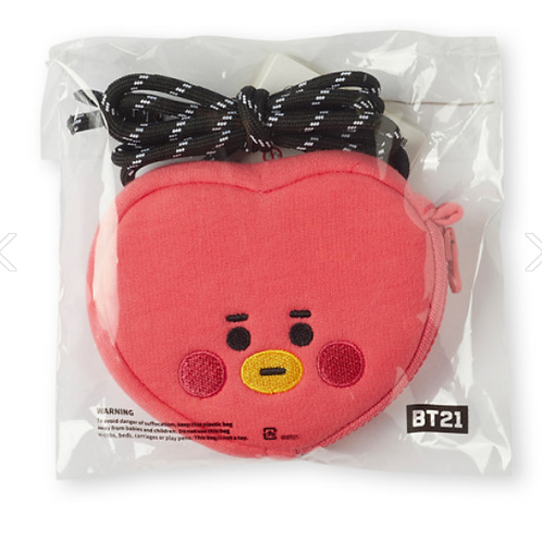 BTS BT21 OFFICIAL - BABY TATA STRAP FACE POUCH SET