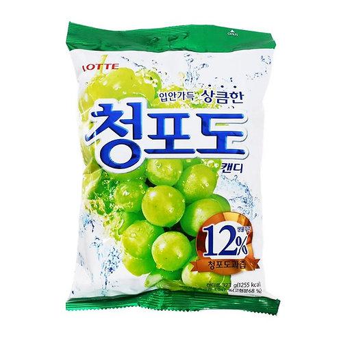 LOTTE Bomboni z okusom grozdja 청포도 캔디