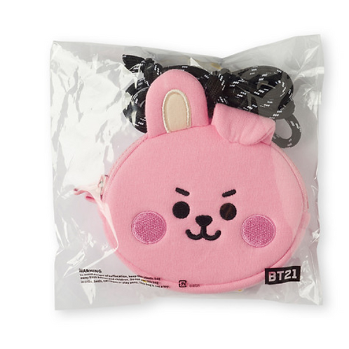 BTS BT21 OFFICIAL - BABY COOKY STRAP FACE POUCH SET