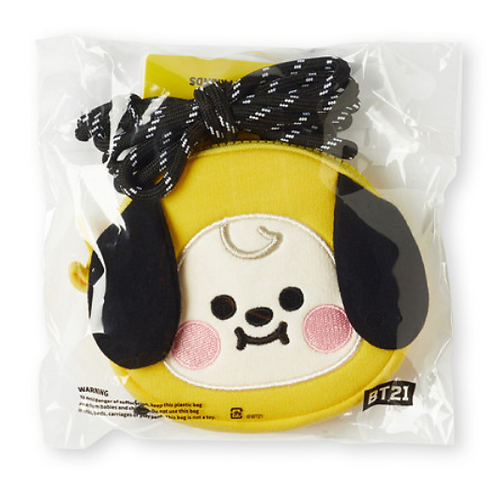 BTS BT21 OFFICIAL - BABY CHIMMY STRAP FACE POUCH SET