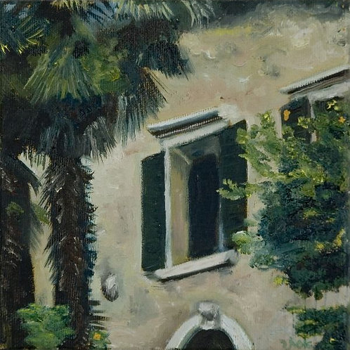 Lanscape Painting - Italian Courtyard 1