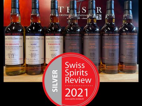 7x Silber am Swiss Spirits Review 2021