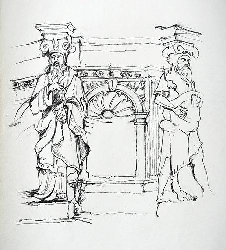 Renaissance figures at the V & A, London