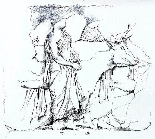 Study of Parthenon Frieze II, British Museum