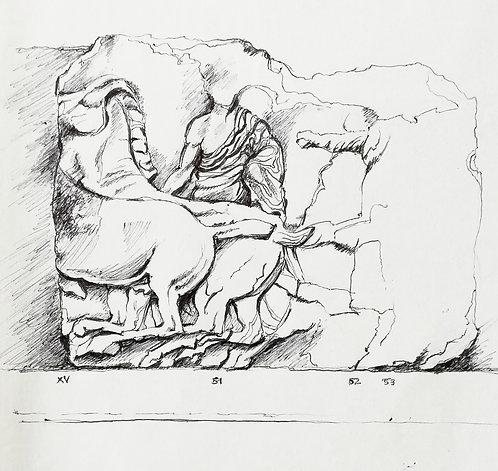 Study of Parthenon Frieze I, British Museum