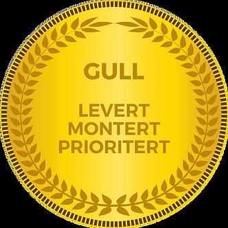 GULL SERVICE - LEVERT, MONTERT OG PRIORITERT