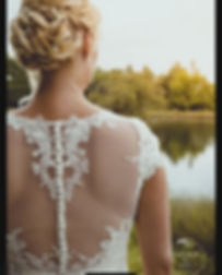 Bridal nape bun with plaits