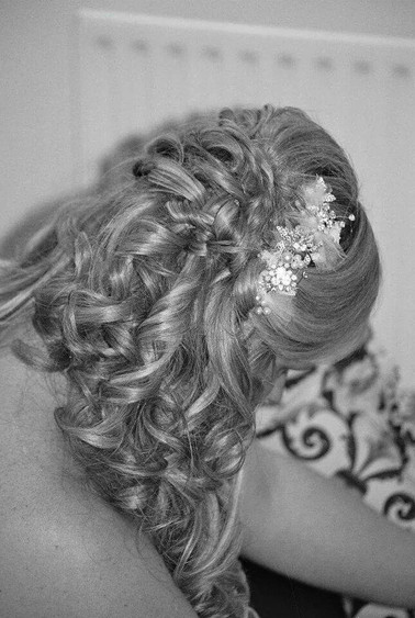 Back view of brides hair up
