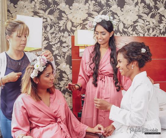 Traditional Bridal hair using fresh flowers