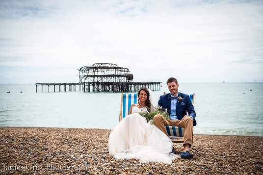 The happy couple, Brighton Beach front