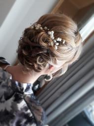Traditional Bridal hair using gypsophilia