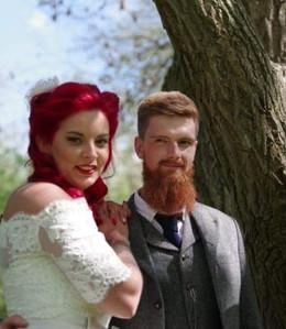 Vintage wedding hair and make-up