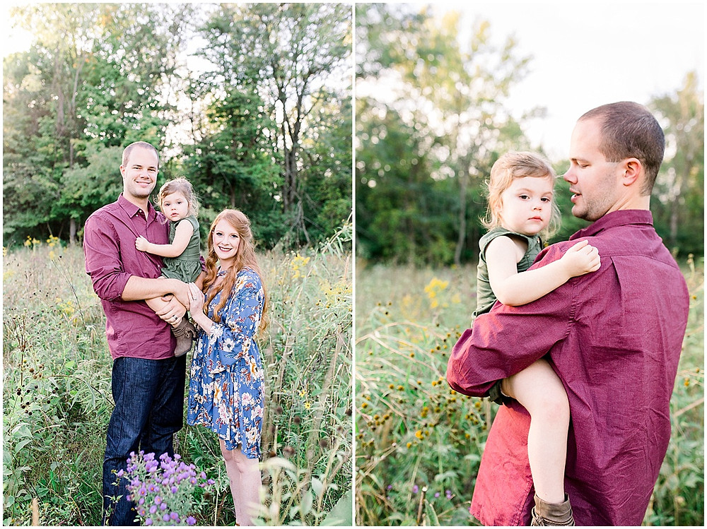 wildflower field family portraits Indianapolis