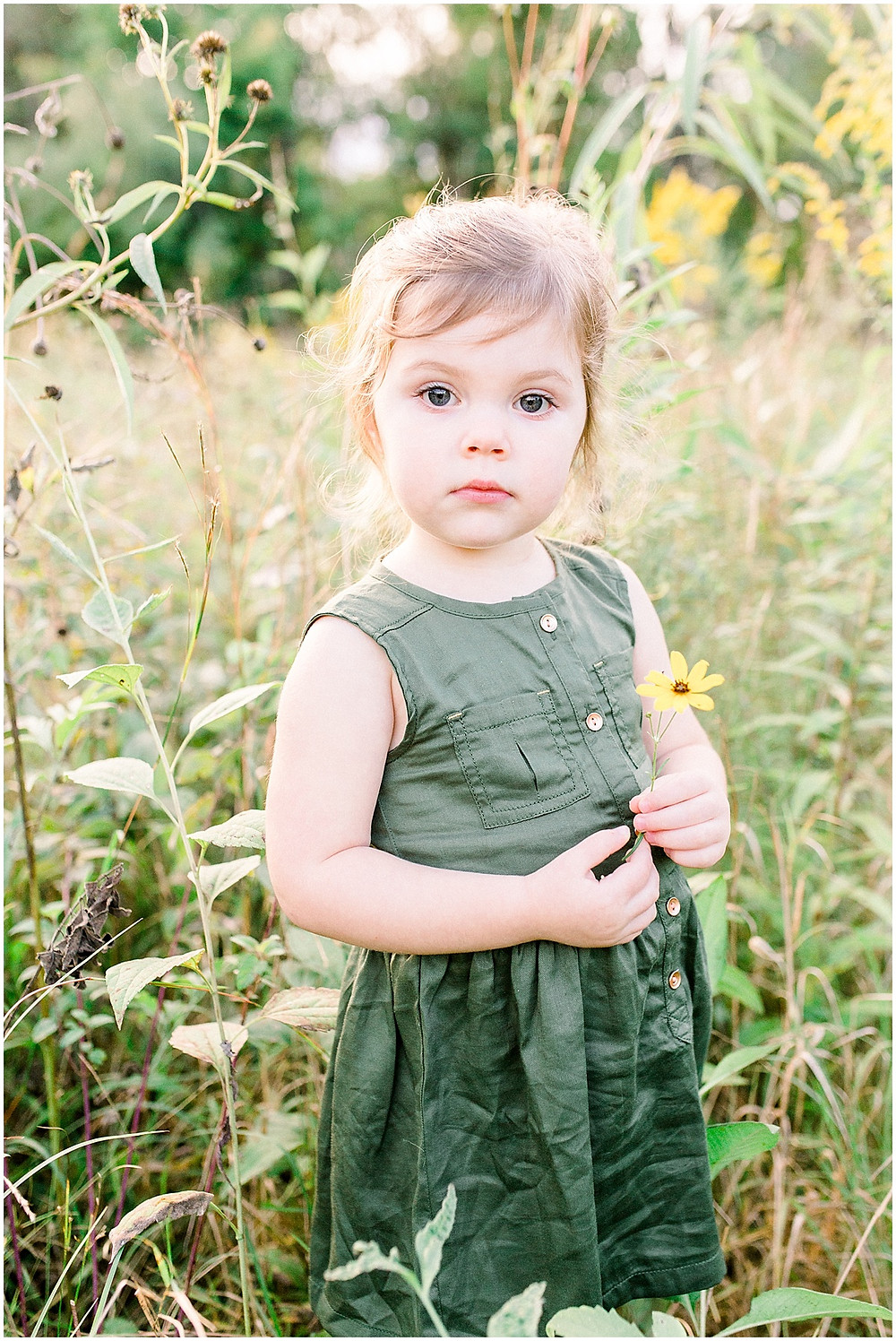 child in wildflowers family Indianapolis