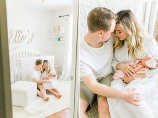Westfield Indiana | Newborn Lifestyle Photographer | Baby Ella