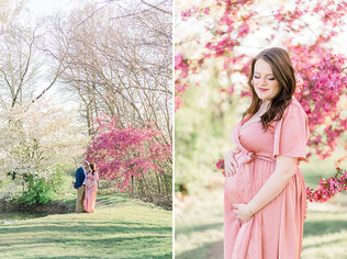 Carmel Family Photographer | A Spring Maternity Portrait Session | Kaylee and Andrew