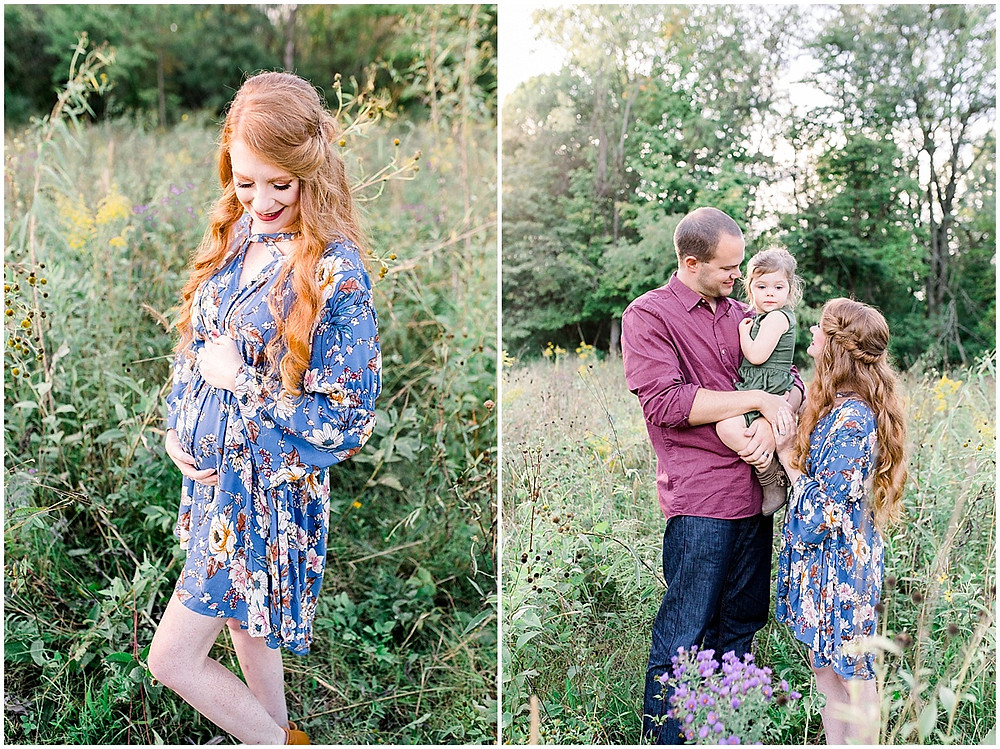 maternity announcement family session