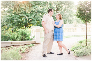 Kate and Steven | Newfields Engagement Session