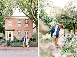 Andrew + Kaylee | Lockerbie Square Historic District Portrait Session | Indianapolis, Indiana