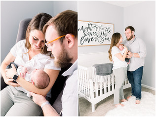 Newborn Lifestyle Photography | Baby Leland | Greenwood, Indiana