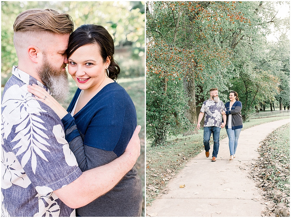 Romantic couple portraits Indy