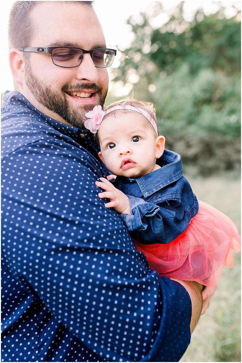 Daddy and baby family portraits