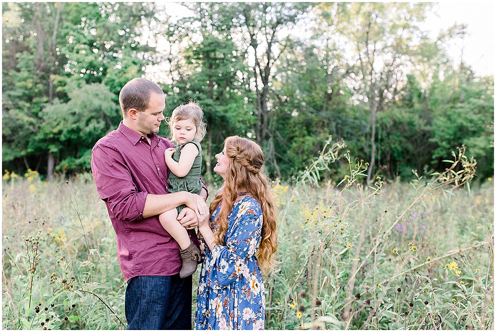 Baby girl family session in Indianapolis