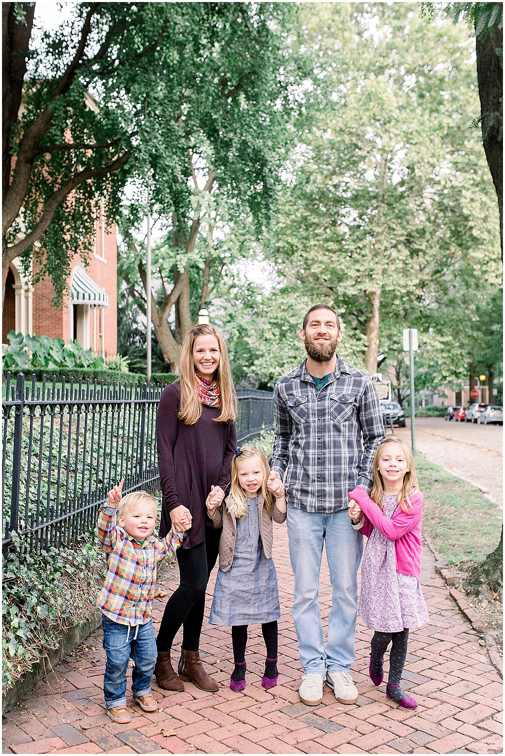 fall family portrait Indianapolis
