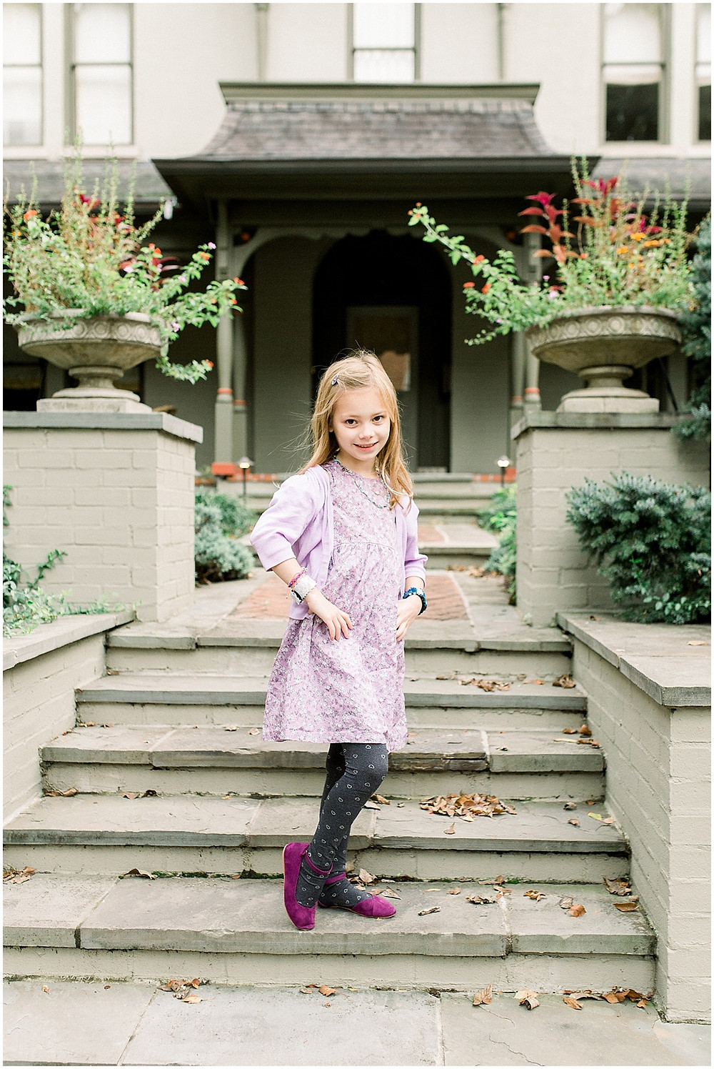 whimsical child outfit family photos